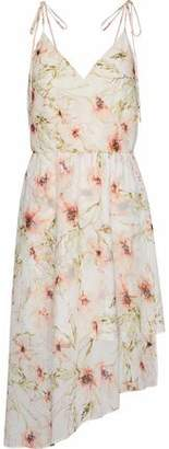 Haute Hippie Wrap-Effect Floral-Print Crepe De Chine Dress
