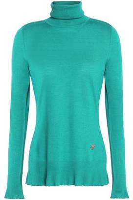 Roberto Cavalli Wool Silk And Cashmere-Blend Turtleneck Sweater