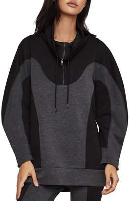 BCBGMAXAZRIA Color-Block Tunic Sweatshirt