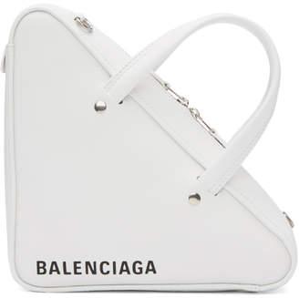 Balenciaga White XS Triangle Chain Bag