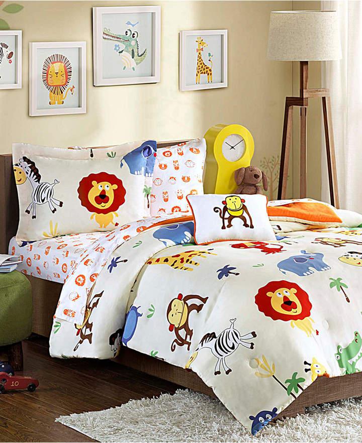 Mi Zone Kids Safari Sam 6-Pc. Reversible Twin Comforter Set Bedding