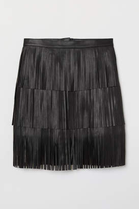 H&M Skirt with Fringe - Black