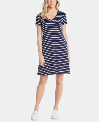 Karen Kane V-Neck Striped Pocket Dress