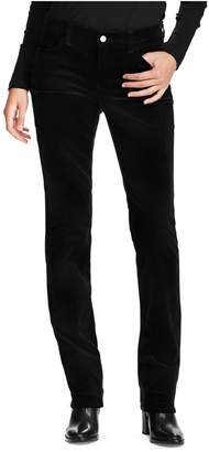 Chaps Petite Mid-Rise Corduroy Straight Pants