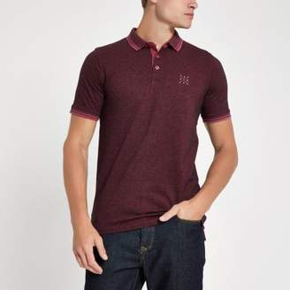 River Island Only and Sons brown polo shirt
