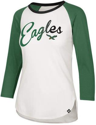 '47 Women's Philadelphia Eagles Splitter Ombre Raglan T-Shirt