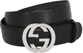 15c071a45 Mens Embossed Leather Belt - ShopStyle UK