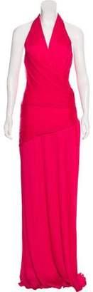 Halston Pleated Evening Dress