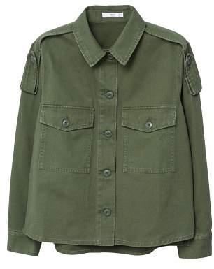 MANGO Military-style overshirt