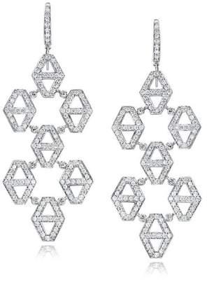 Walters Faith Keynes 18K And Diamond Seven Drop Hexagon Earrings