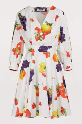 MSGM Fruit printed dress