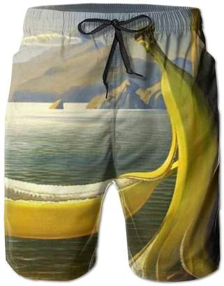 Trunks Kla Ju Board Shorts Beach Drawstring Surf Pants Waistband Swim Bananas Funny Design Sports Casual with Pockets Bathing Suits Men