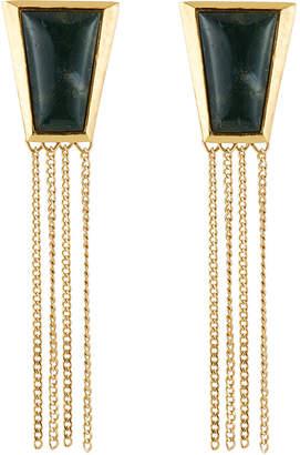 Stephanie Kantis Green Agate Impose Earrings