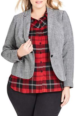 City Chic So Plaid Jacket