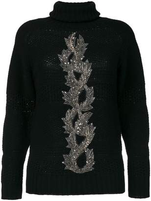 Jo No Fui embellished sweater