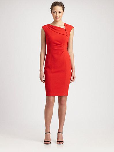 Kay Unger Textured Crepe Dress