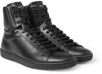 Saint Laurent Sl01h Leather High Top Sneakers