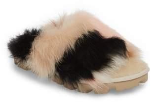 UGG Shag It Crazy Genuine Toscana Shearling Slide Sandal