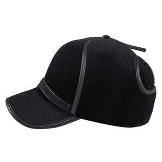 b26288dec68 Hunter AIEOE Elderly Mens Winter Hat Outdoor Baseball Cap Windprooauxur  Visor Cap with Earlaps