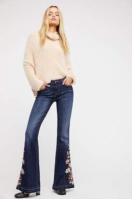 Driftwood Farrah Embroidered Flare Jeans