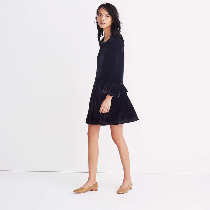 Velvet Bell-Sleeve Dress