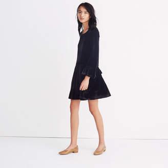 Madewell Velvet Bell-Sleeve Dress
