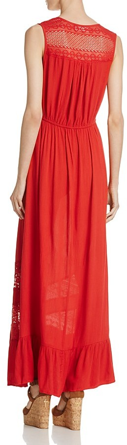 Band of Gypsies Lace-Inset Maxi Dress 3