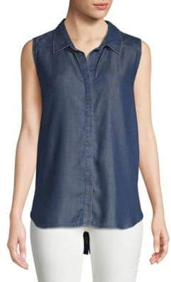 NYDJ Chambray Sleeveless Shirt