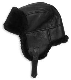 Surell Leather & Shearling Trooper Hat