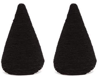 Rebecca De Ravenel Aida Triangle Cord Earrings - Womens - Black