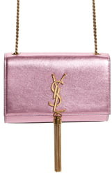 Saint Laurent Small Kate Metallic Leather Crossbody Bag
