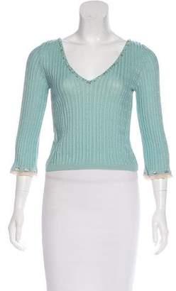 Blumarine Long Sleeve Knit Top