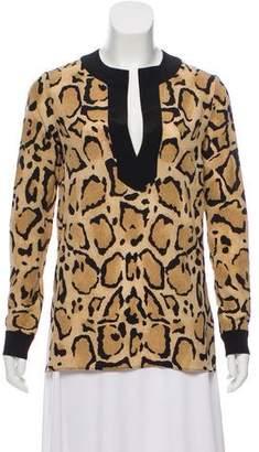 Gucci Silk Animal Print Top