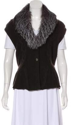 Magaschoni Fur-Trimmed Wool-Blend Vest