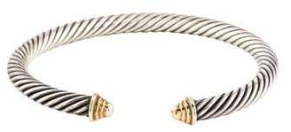 David Yurman 14K Cable Classics Cuff Bracelet