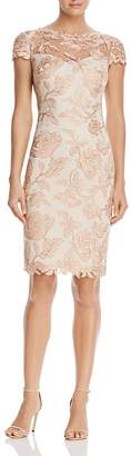 Tadashi Shoji Short Sleeve Lace Cocktail Dress $408 thestylecure.com