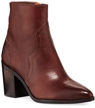 Frye Flynn Short Burnished Leather Western Boots