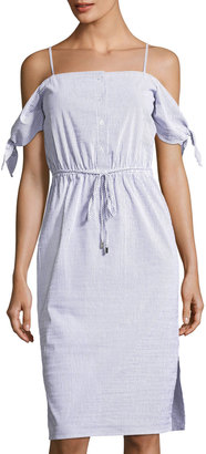 Julia Jordan Tie-Sleeve Off-the-Shoulder Striped Dress $119 thestylecure.com