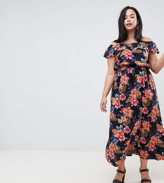 Bardot NVME Floral Maxi Dress With Frill Detail