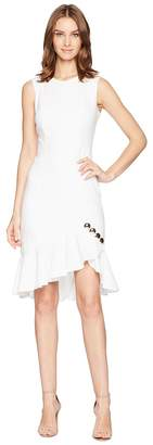 Calvin Klein Ruffle Hem with Button Detail Dress CD8C15LV Women's Dress