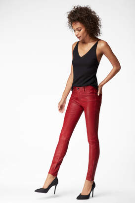 L8001 Mid-Rise Super-Skinny Leather Legging In Venetian Leather