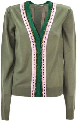 N°21 N.21 Green Virgin Wool Cardigan