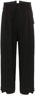 Sulvam high-waisted wool trousers
