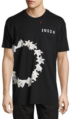 Givenchy Columbian-Fit Lily-Print T-Shirt, Black $595 thestylecure.com