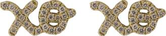 Sydney Evan Diamond Pave Xo Stud Earrings