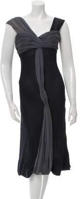 Vera Wang Silk Midi Dress $175 thestylecure.com