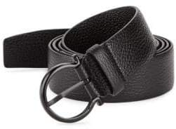 Salvatore Ferragamo Gancio Buckle Belt with Extended Strap