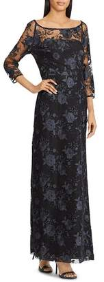 Ralph Lauren Floral Embroidered Gown
