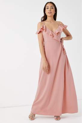 Glamorous Womens Silky Maxi Dress - Pink
