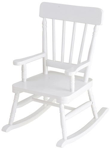 Simply Classic White Child's Rocking Chair